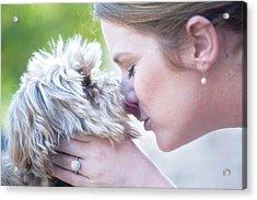 Puppy Love Acrylic Print by Bonnie Barry