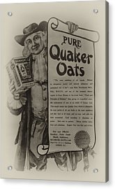 Pure Quaker Oates Acrylic Print by Bill Cannon