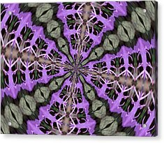 Purple Azaleas Fractal Acrylic Print