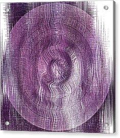 Purple Concentric Circles Acrylic Print by Bonnie Bruno