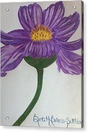 Purple Cosmo Acrylic Print by Berta Barocio-Sullivan