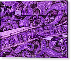 Purple Crossroads With Curves Acrylic Print by Anne-Elizabeth Whiteway