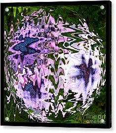 Purple Daisies World - Abstract Art Acrylic Print by Carol Groenen