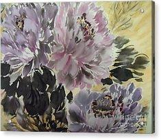 Purple Dark Peony Acrylic Print