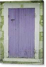 Purple Door Number 46 Acrylic Print by Georgia Fowler