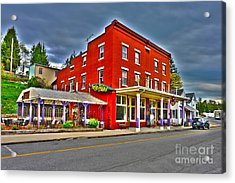 Acrylic Print featuring the photograph Purple Fiddle In Thomas Wv by Dan Friend
