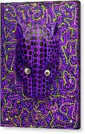 Purple Jaguar Head Acrylic Print