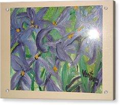 Purple Lilies Acrylic Print