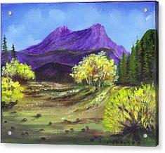 Purple Mountain Beauty Acrylic Print by Janna Columbus