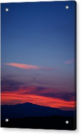 Purple Mountain Acrylic Print by Kevin Bone