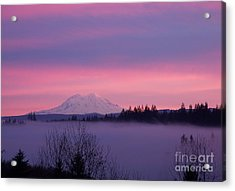 Acrylic Print featuring the photograph Purple Mountain Majesty by Chalet Roome-Rigdon
