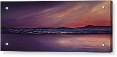 Purple Passion Acrylic Print by Jan Farthing