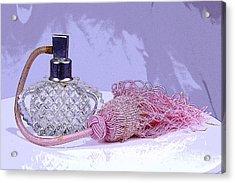 Purple Perfume Acrylic Print by Serene Maisey