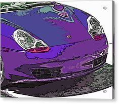 Purple Porsche Nose 2 Acrylic Print by Samuel Sheats