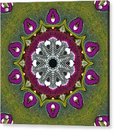 Acrylic Print featuring the digital art Purple Snakeskin Flower by Alec Drake
