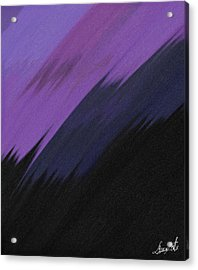 Purple Sunrise Acrylic Print by Lance  Kelly