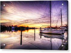 Purple Sunrise Acrylic Print by Vicki Jauron