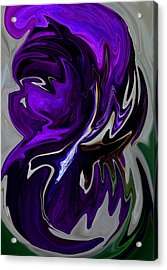 Acrylic Print featuring the digital art Purple Swirl by Karen Harrison