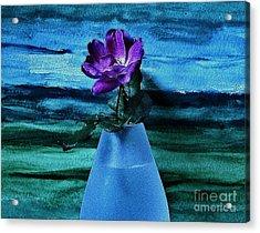 Purple Tea Rose Acrylic Print by Marsha Heiken