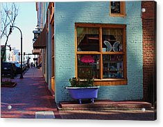 Acrylic Print featuring the photograph Purple Tub by Bob Whitt