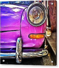 Purple Vw Bug Acrylic Print by Julie Gebhardt