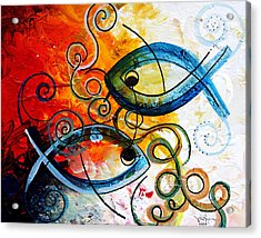 Purposeful Ichthus By Two Acrylic Print by J Vincent Scarpace