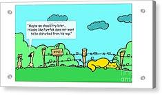 Purrfek Mines Acrylic Print