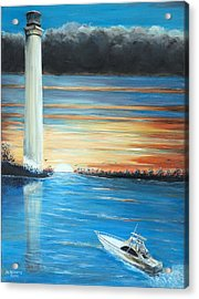 Put-in-bay Perry's Monument - International Peace Memorial  Acrylic Print by Bernadette Krupa
