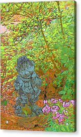 Puzzled Acrylic Print by Wide Awake Arts