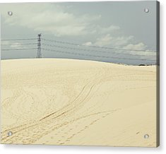 Pylon Atop Sand Dune Acrylic Print