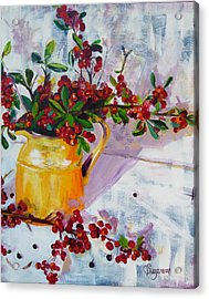 Pyracatha Pitcher Picture Acrylic Print by Suzanne Willis