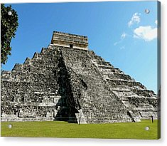 Pyramid Of Kukulcan Acrylic Print by Cute Kitten Images