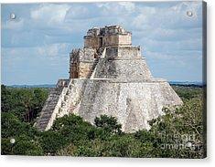 Pyramid Of The Magician At Uxmal Mexico Acrylic Print by Shawn O'Brien