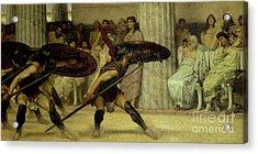 Pyrrhic Dance Acrylic Print by Sir Lawrence Alma-Tadema