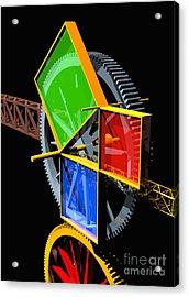 Pythagorean Machine Portrait 2 Acrylic Print by Russell Kightley