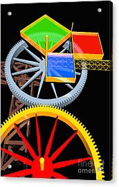 Pythagorean Machine Portrait 7 Acrylic Print by Russell Kightley