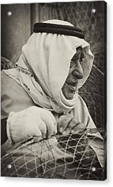 Qatari Fish-trap Maker Acrylic Print