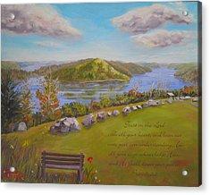 Quabbin Reservoir With Verse Acrylic Print