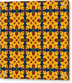Quadrichrome 13 Symmetry Acrylic Print by Hakon Soreide