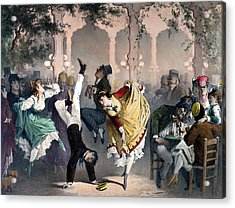 Quadrille At The Bal Bullier Acrylic Print by G Barry