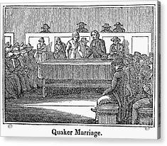 Quaker Marriage, 1842 Acrylic Print by Granger