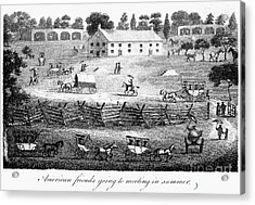 Quaker Meeting, 1811 Acrylic Print by Granger