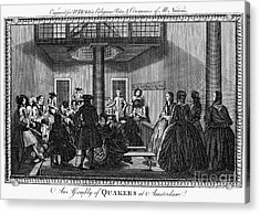 Quaker Meeting, C1790 Acrylic Print by Granger