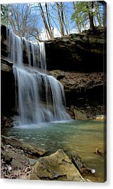 Quakertown Falls Acrylic Print by Michelle Joseph-Long