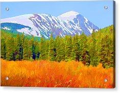 Quandary Peak Acrylic Print by Brian Davis