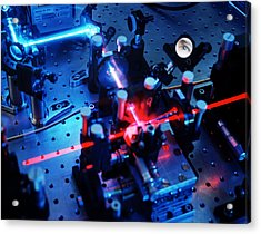 Quantum Cryptography Equipment Acrylic Print by Volker Steger