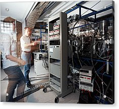 Quantum Entanglement Equipment Acrylic Print by Volker Steger