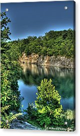 Quarry Of Reflections 2 Acrylic Print by Heather  Boyd