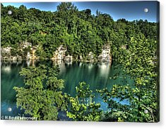 Quarry Of Reflections Acrylic Print by Heather  Boyd