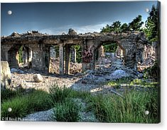 Quarry Ruins Acrylic Print by Heather  Boyd
